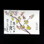 数珠珊瑚の絵手紙