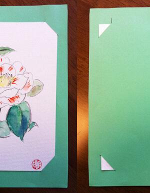 かんたん絵手紙の飾り方~厚紙バージョン