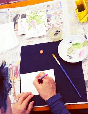 絵手紙教室とは? 雰囲気~写真です